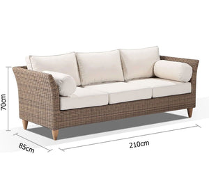 Carolina 3 Seater Outdoor Lounge
