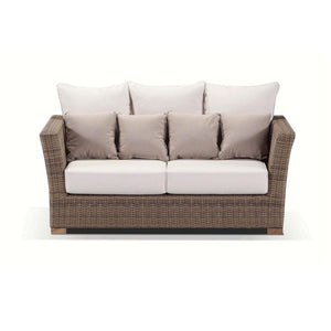 Coco 2+1+1 - 2 Seater Day Bed With 2 Arm Chairs And Coffee Table in Outdoor Rattan Wicker