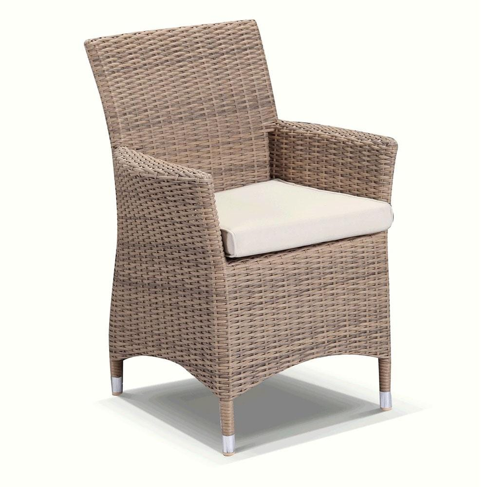 Sahara 8 Square Dining Setting In Half Round Wicker