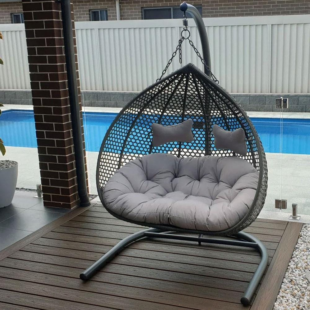 Alfie Double Hanging Egg Chair - United House Furniture