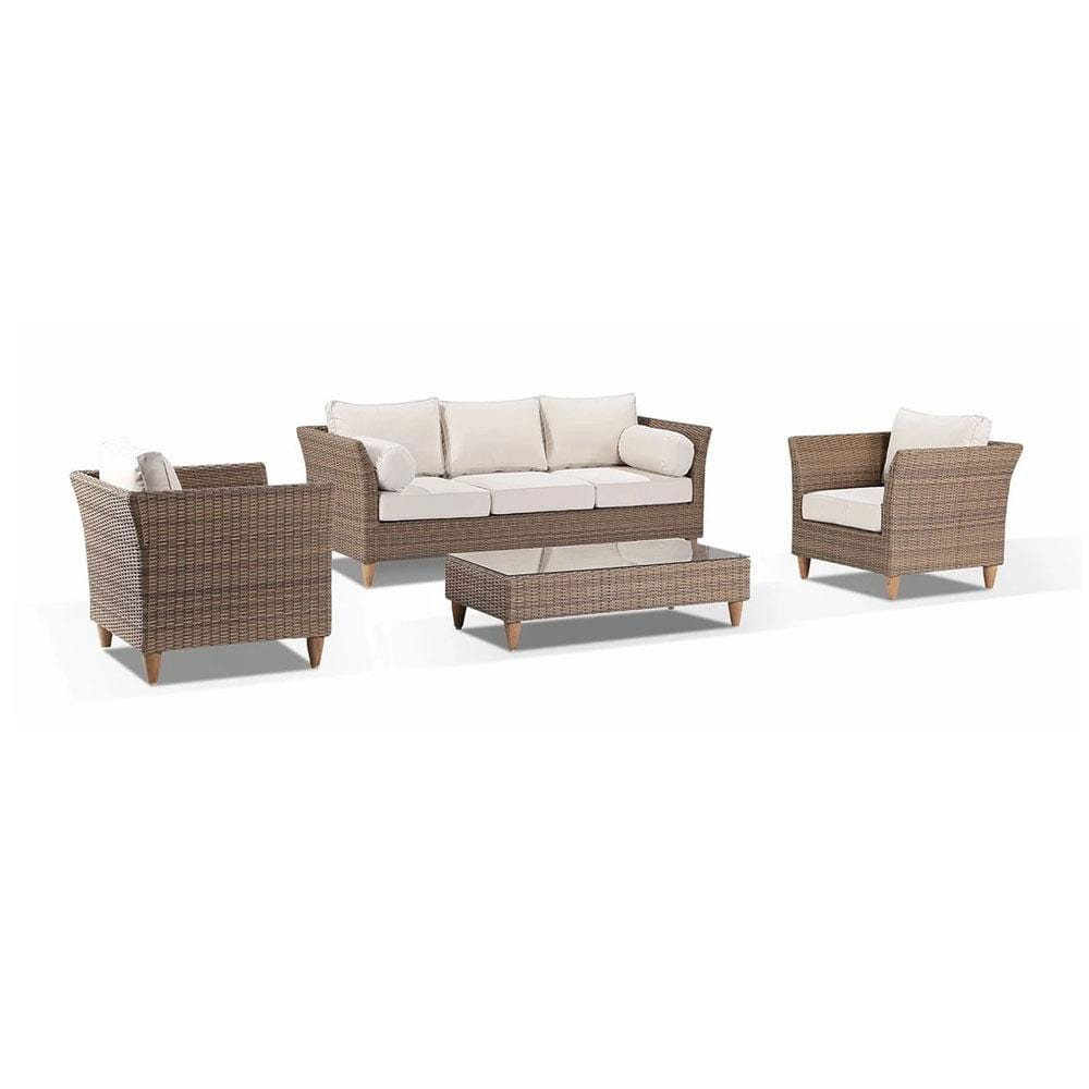 Carolina Outdoor Lounge 3+1+1 with Coffee Table