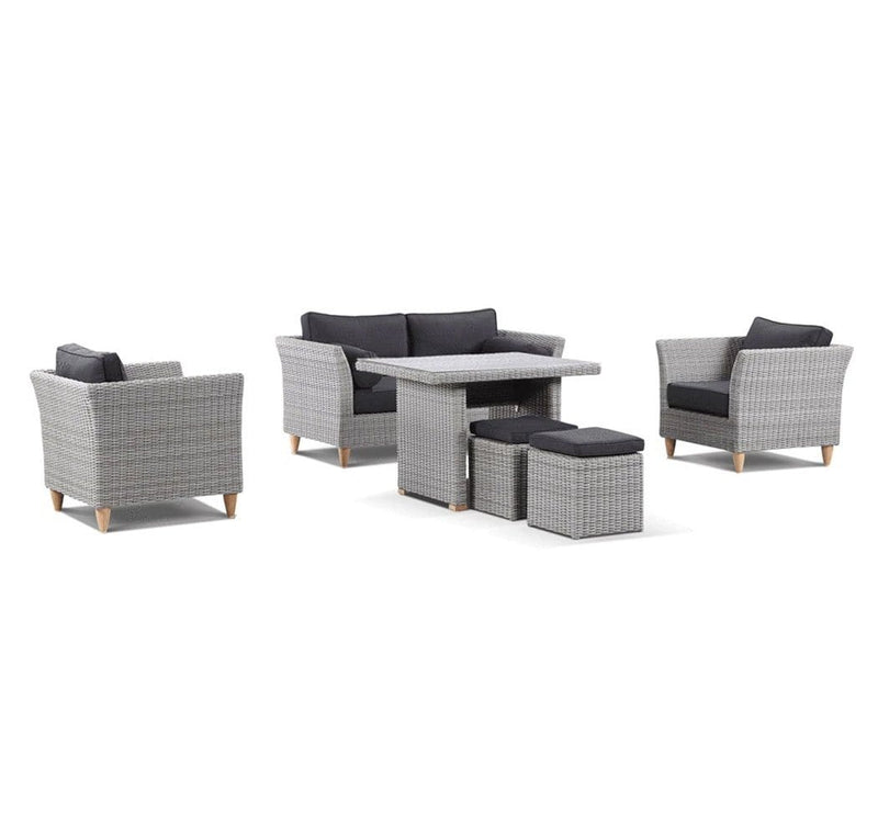 Carolina 2+1+1 Outdoor Lounge & Dining Table Setting
