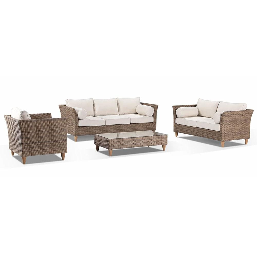 Carolina 3+2+1 with coffee table - Outdoor Rattan Wicker Sofa Set