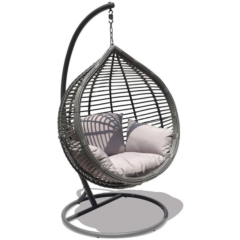 Oceana Hanging Egg Chair Slate Grey