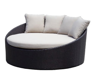 Coolum Daybed - Round Outdoor Daybed With Side Drink Table Without Canopy