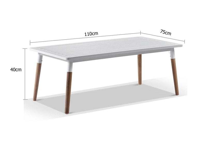 Silas Outdoor Coffee Table for Ivory Rope Setting