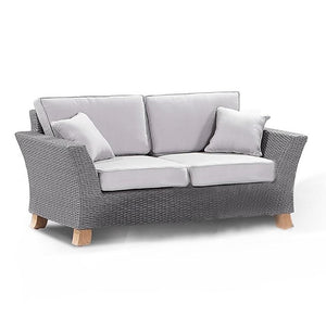 Malibu 2 Seater Sofa Couch in Grey Outdoor Wicker Furniture