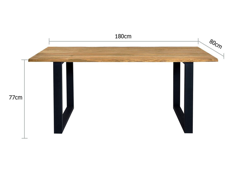 Santai 1.8m Outdoor Teak Timber and Dining Table
