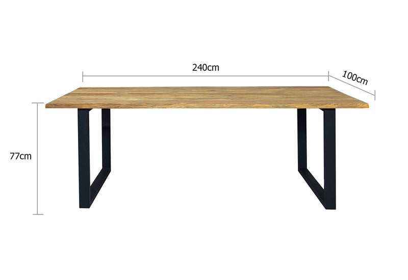 Santai 2.4m Outdoor Teak Timber and Dining Table