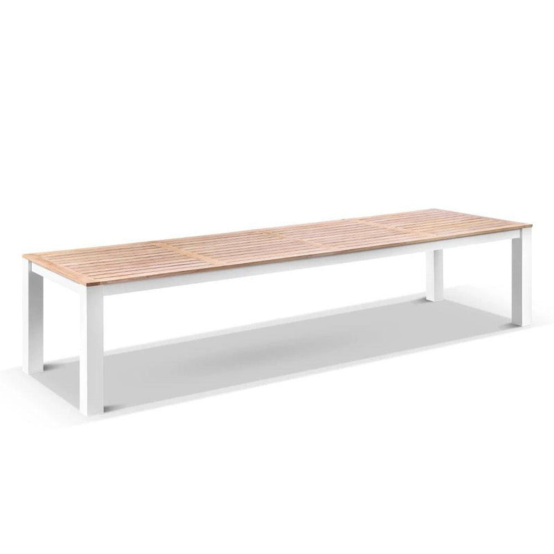 Balmoral 3.55m Outdoor Aluminium Teak Top Dining Table