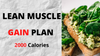 Lean Muscle Gain - 2000 Calories