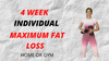 4 Weeks Individual Training Plan - Maximum Fat Loss