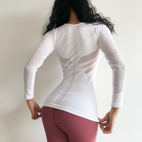 Long Sleeve Mesh Top - Just Be Yoo