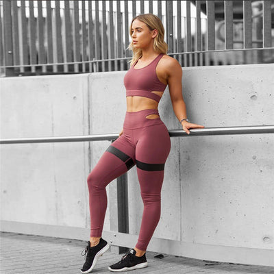 Set: Sport Bra and matching High Waist Leggings - Just Be Yoo