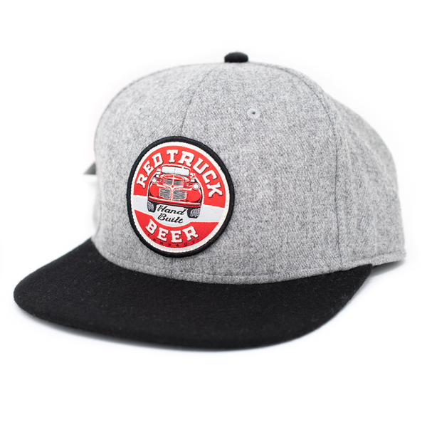 RED TRUCK FLAT BILL HAT