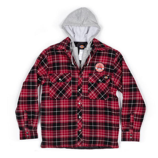 RED TRUCK PLAID JACKET WITH HOOD