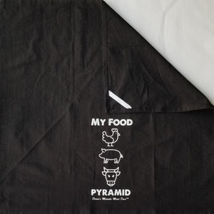MY FOOD PYRAMID Black BBQ Towel with Loop