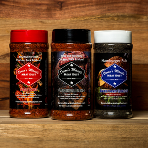 Three Pack Custom Seasoning and Rubs in Box *Login for Wholesale Price*