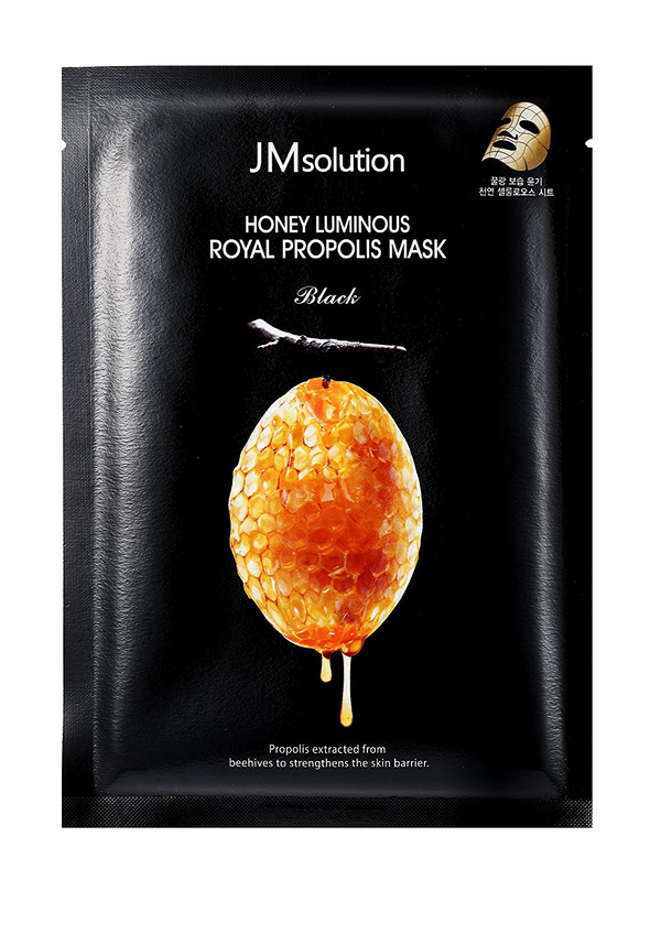 JMSOLUTION Honey Luminous Royal Propolis Mask Black (1psc)