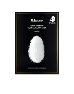 JMsolution Water Luminous Silky Cocoon Mask Black Deep hydrating essence & hyaluronic acid
