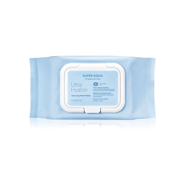 MISSHA Super Aqua Ultra Hyalron Cleansing Water Wipes (30psc)