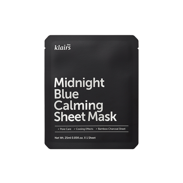 KLAIRS Midnight Blue Calming Sheet Mask (1pcs)