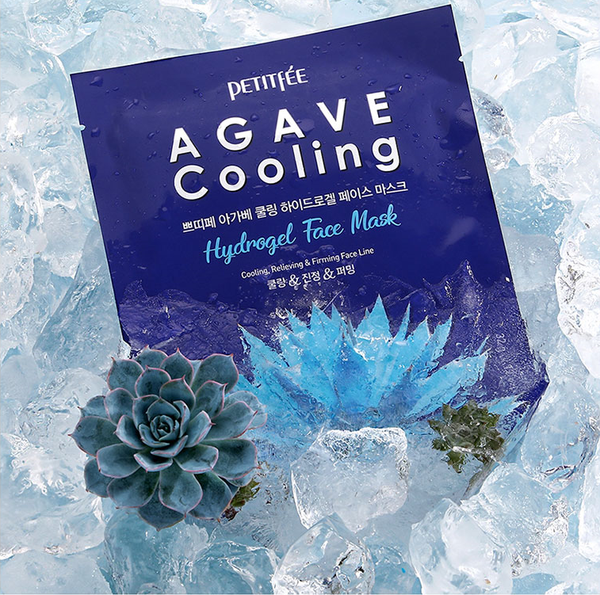 Agave Cooling Hydrogel Sheet Mask Cooling, Refreshing, Firming Face line  Moisture