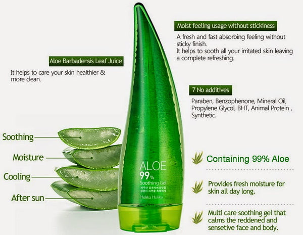 Holika Holika Aloe Gel for Face care, Hair care, Body care