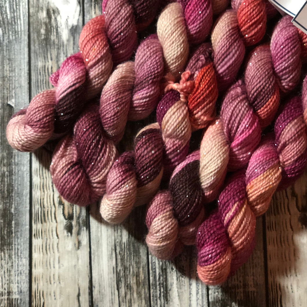 Monarch Silver Sock Mini Skein - Blossom