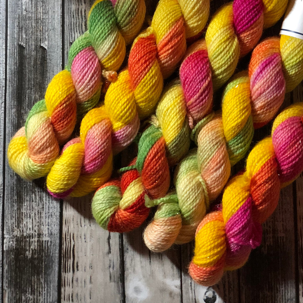 Monarch Silver Sock Mini Skein - Fruit Salad