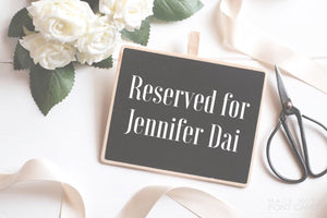 Custom Listing for Jennifer Dai