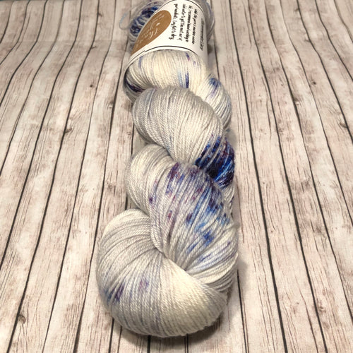 Mockingbird Sock -  Purple Iris