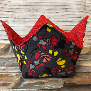Portable Yarn Bowl - Geometric Flowers
