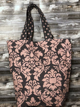 Pink Grey Floral Project Bags