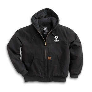 Cotton Duck Hooded Jacket w/Embroidery