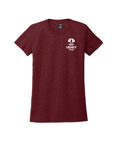 Allmade Women's Tri-Blend Tee - Dark Colors w/ Embroidery
