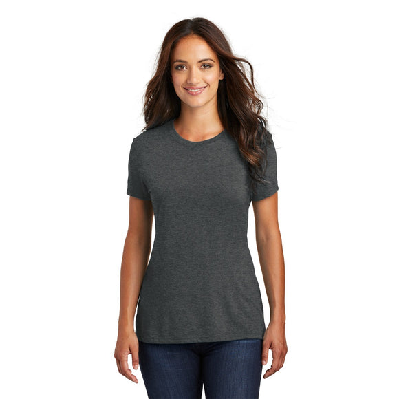 District ® Women's Perfect Tri ® Tee in White w/Heat Transfer
