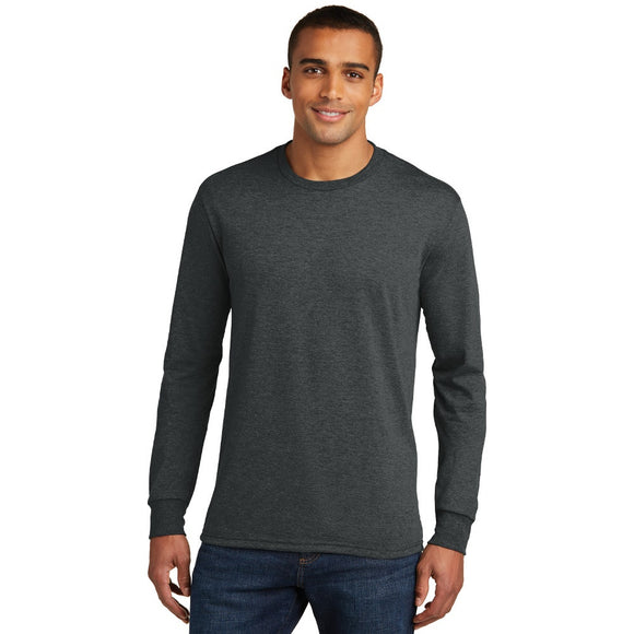 District ® Perfect Tri ® Long Sleeve Tee w/ Heat Transfer