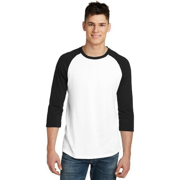 District ® Very Important Tee ® 3/4-Sleeve Raglan w/ Digital Imprint
