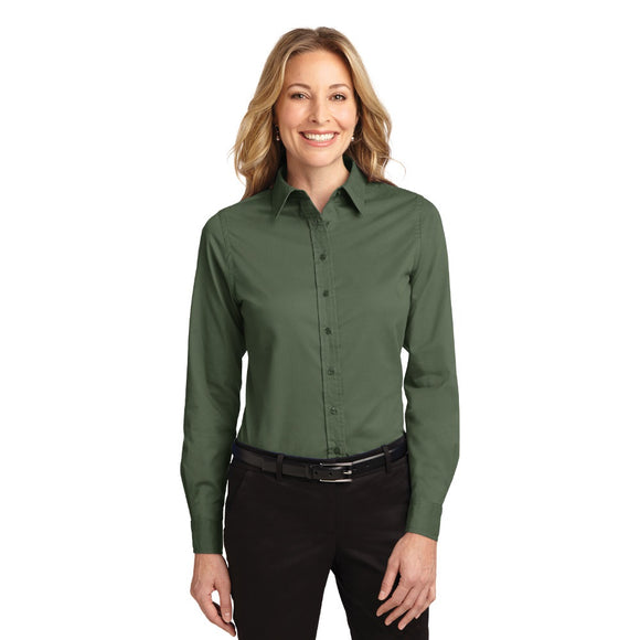 Port Authority® Ladies Long Sleeve Easy Care Shirt - Colors w/ Embroidery