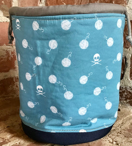 "Large Yarn Bag  - ""Skull and Yarn Balls"""