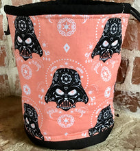 "Load image into Gallery viewer, Large Yarn Bag  - ""Star Wars - Darth Vader Sugar Skulls - Pink"""