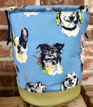 "Load image into Gallery viewer, Large Yarn Bag W/Divider - ""Faithful Dogs"""