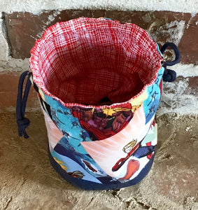 "Personal Size Drawstring Project Bag - ""Captain Marvel"""