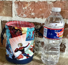 "Load image into Gallery viewer, Personal Size Drawstring Project Bag - ""Captain Marvel"""