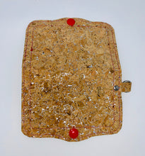 Load image into Gallery viewer, Face Mask Holder - Cork with Silver Fleck Exterior/Red Interior