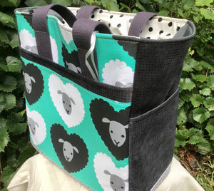 "Open Tote,  ""Sheep"" (Green)"