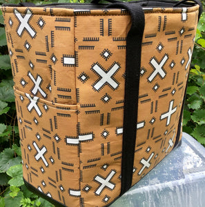 "Open Tote, ""Mudcloth Inspired"""