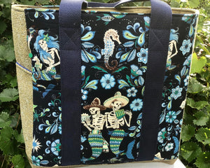 "Open Tote, ""Day of the Dead, Mermaids"""