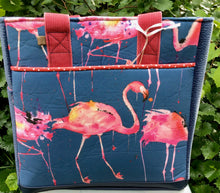 "Load image into Gallery viewer, Open Tote, ""Pink Flamingos"""